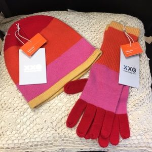 Isaac Mizrahi cashmere beanie and gloves